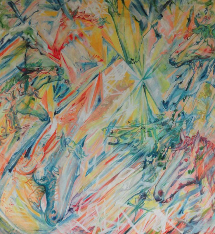 """ca(val)leidoscopio"", acrilyc  and oil painting,"