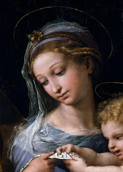 Raffaello Sanzio (Raphael) - Madonna della Rosa (Detail) (1518 - 1520) - Beautiful