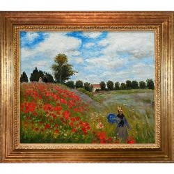 Artist: Claude Monet   Title: Poppy Field in Argenteuil   Product type: Framed hand-painted canvas art