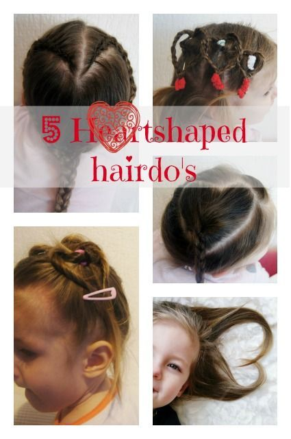 5 Heartshaped hairdo's for toddlers and girls with short hair for Valentine - Mamaliefde.nl: