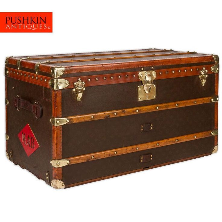 ANTIQUE 20thC RARE LOUIS VUITTON MONOGRAM HAUTE COURIER / STEAMER TRUNK c.1940