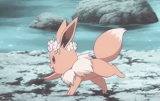 This is my favourite thing in the entire world I one day aspire to be as happy as this eevee.
