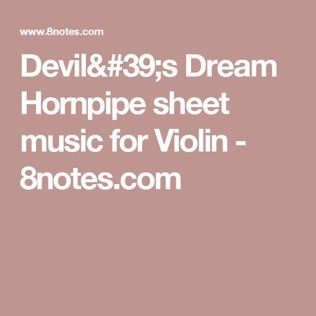 Devil's Dream Hornpipe sheet music for Violin - 8notes.com