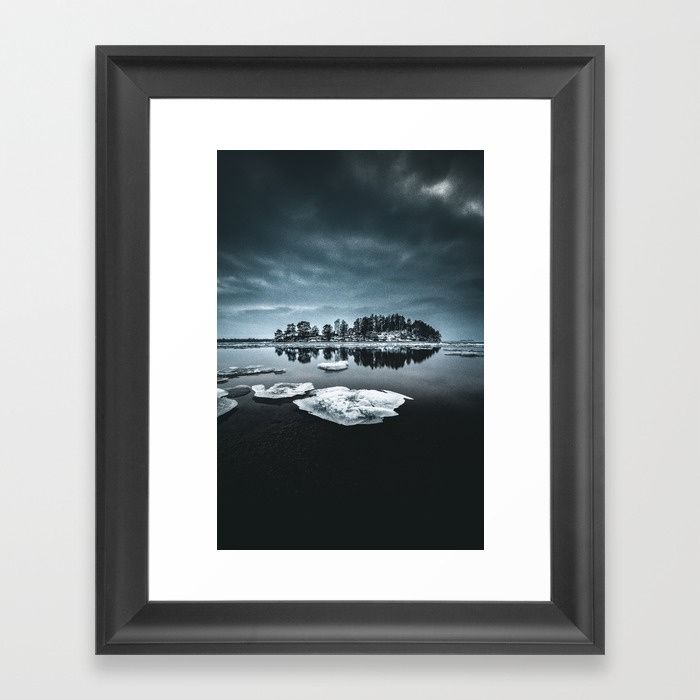 Only pieces left Framed Art Print by HappyMelvin. #naturephotography #winter #ice #fineart #photography #wallart #artprints