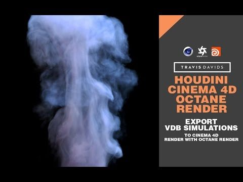 Houdini, Cinema 4D & Octane Render - Export VDB Simulations To Cinema 4D & Render With Octane Render - YouTube
