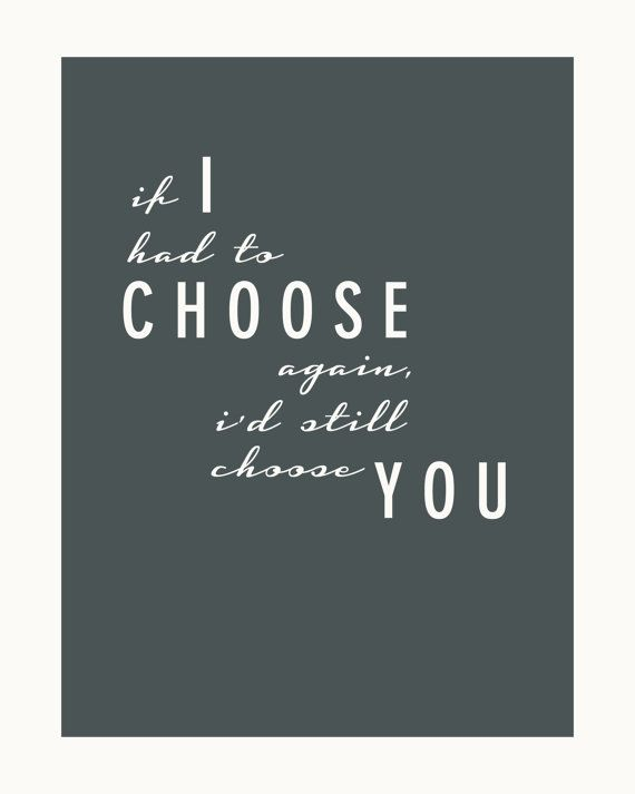 I Choose You  3 8x10 Wedding / Anniversary Print by FRESHPAiGE, $8.00 #weddinganniversary #gift