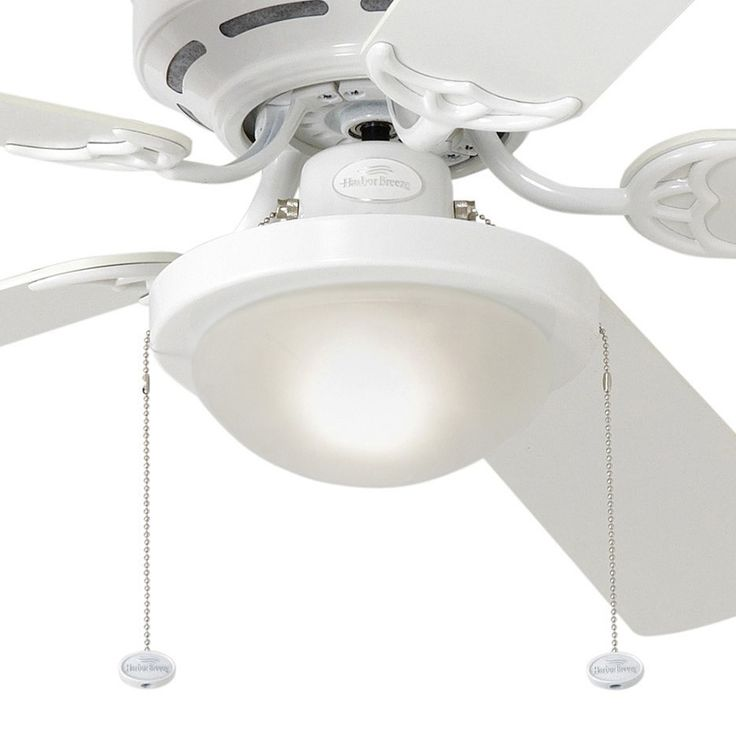 shop harbor breeze armitage 52in white flush mount ceiling fan with light kit at lowescom things pinterest flush mount ceiling fan - Flush Mount Ceiling Fans
