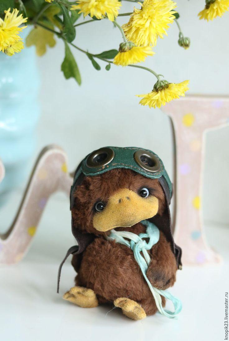 Teddy toy duck Max | Тедди утенок Макс — работа дня на Ярмарке Мастеров