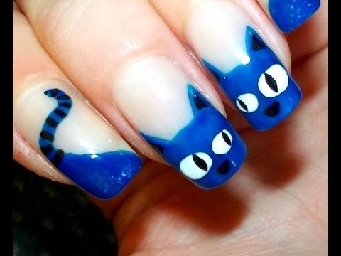 Cat Nail Art - YouTube