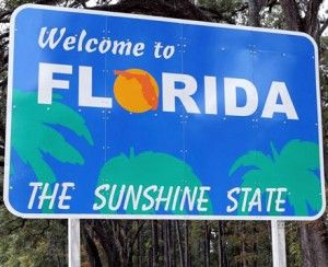 Florida State sign for the Sunshine State with the top Festivals you shouldn't miss this year