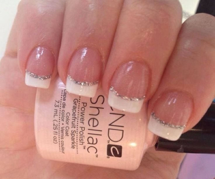 shellac french nails - Google Search