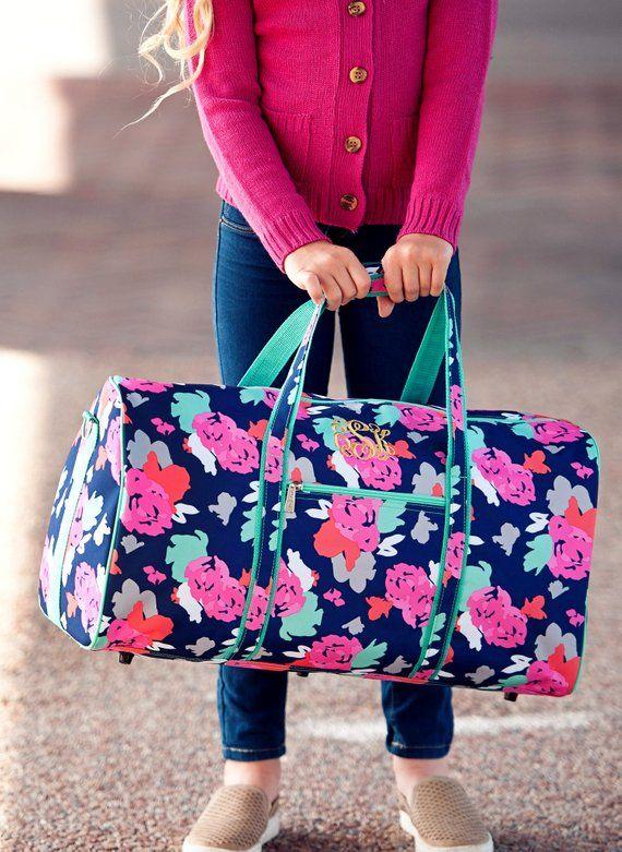 94e8ef11917f Amelia Monogrammed Girls Duffel Bag