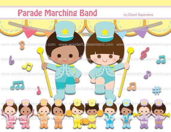 Parade Marching Band Svg Png Eps Vector Instant Download Etsy Scrapbook Kits Digital Sticker Clip Art