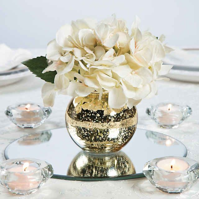 Round Gold Mercury Bud Vases Oriental Trading Gold Wedding Centerpieces Gold Mercury Glass Centerpiece Glass Vases Centerpieces