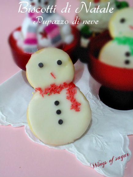 Biscotti di Natale pupazzo di neve ricetta