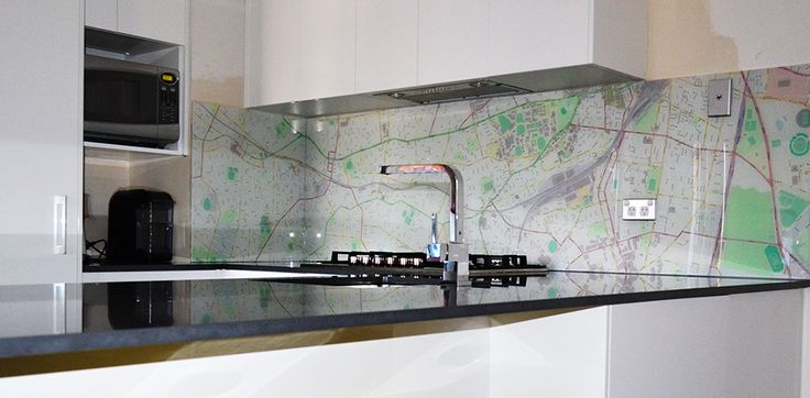 9.Give your kitchen a unique and stunning makeover? Go for a stunning and custom-designed #kitchen glass #splashback from Prints On Glass.