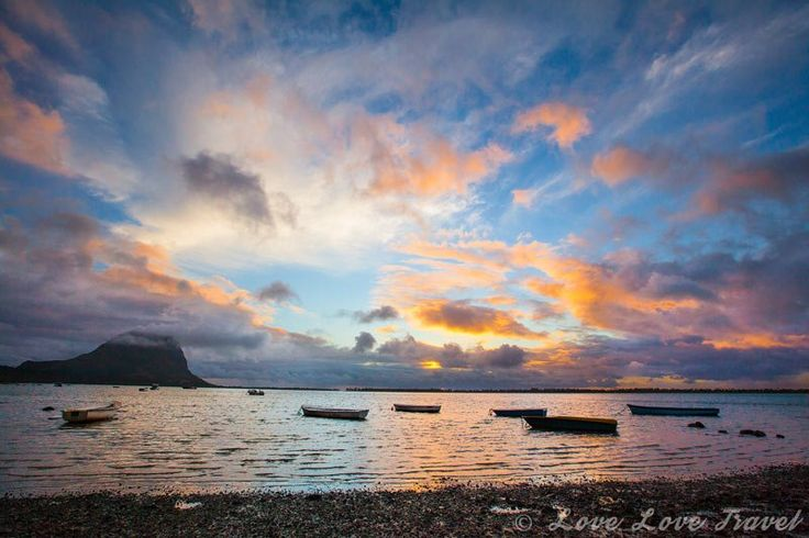 Sunset views of Le Morne from a small beach close to La Gaulette. Check out the blog post for 28 photos of Mauritius like you have never seen it before.