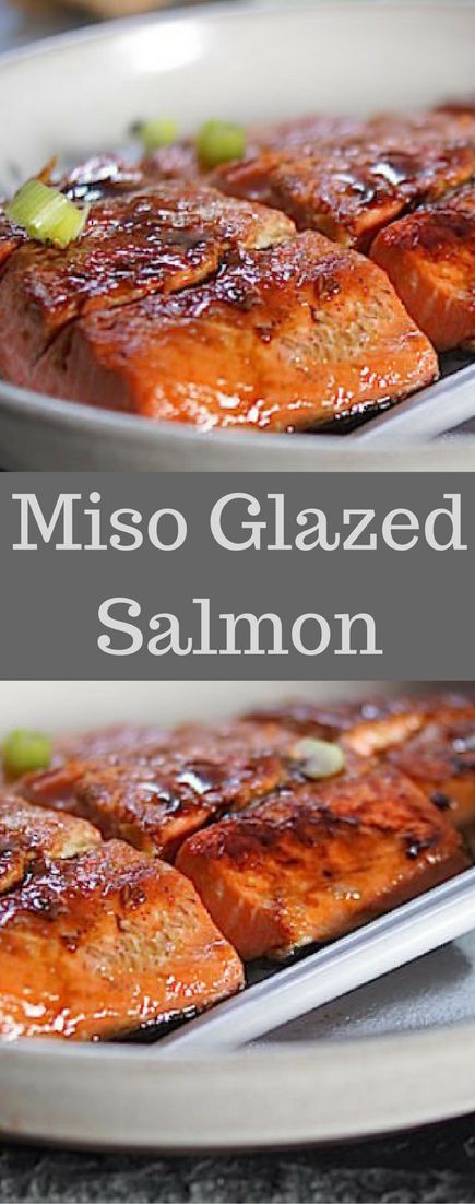 Miso and Ginger Glazed Salmon. Simple, healthy, delicious and easy to make.
