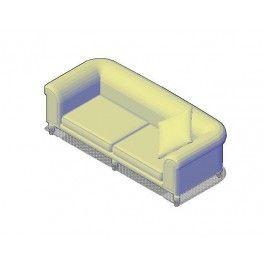 Day Sofa 3D AutoCAD dwg