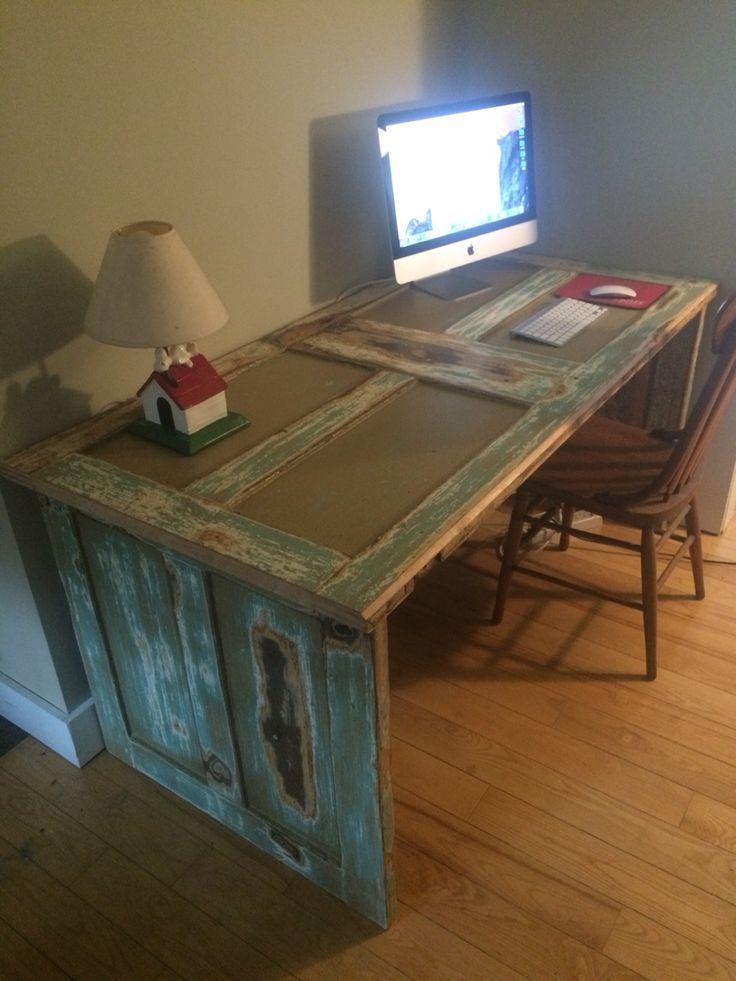 Antique Door Desk   Antique Furniture