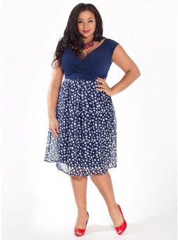 Adelle Dress in Indigo Dot