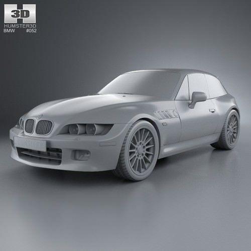 bmw z3 coupe e36 8 1999 3d model max obj 3ds fbx c4d lwo lw lws 6