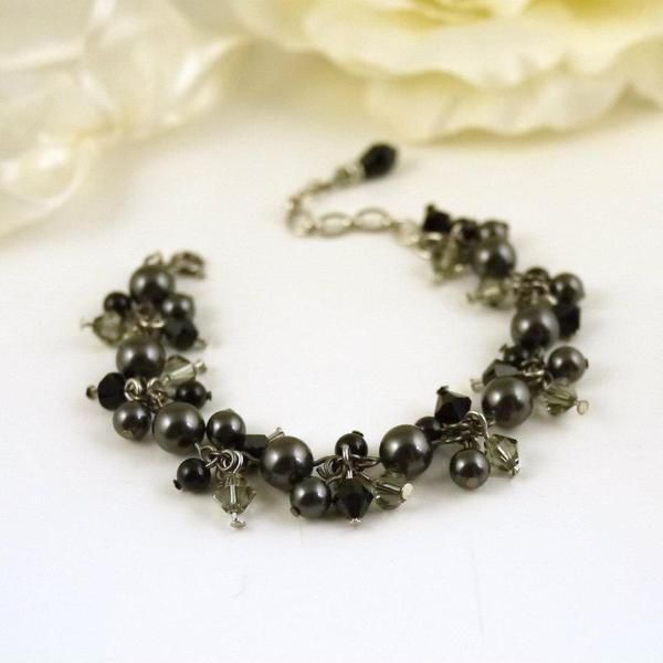 Becca Charcoal Bracelet