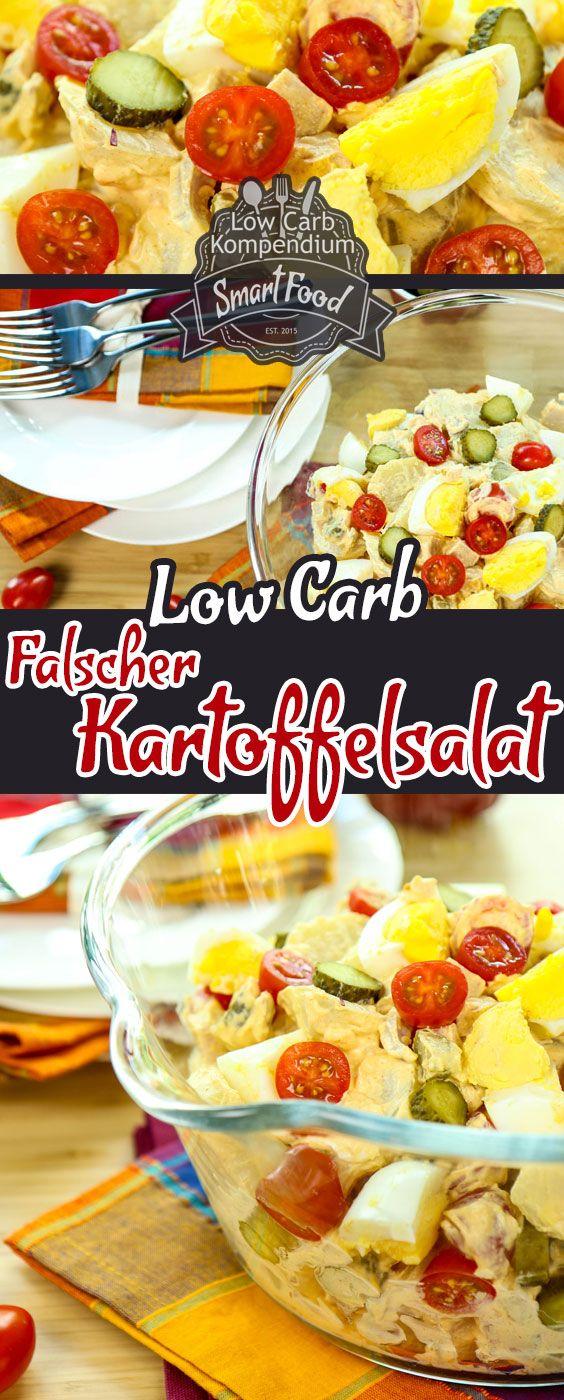 Falscher Kartoffelsalat Low-Carb mit Ei & Tomaten – frisch & würzig. Heute präsentieren wir euch unseren falschen Kartoffelsalat mit Ei & Tomaten. Da die Kartoffel nicht so optimal in eine Low-Carb Ernährung passt, wir aber nicht auf unseren geliebten Kartoffelsalat an heißen sommerlichen Grillabenden verzichten wollten, haben wir eine Low-Carb Alternative zum klassischen Kartoffelsalat entwickelt. Einfach die Kartoffel durch Kohlrabi ersetzen und schon waren viele böse Kohlenhydrate…