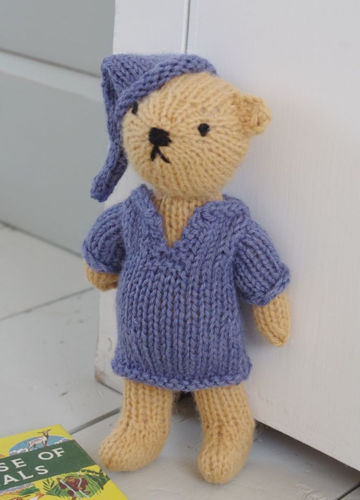10 best knitted teddy bears images on pinterest bookstores my knitted bear in nightshirt and night cap from my free ebook easy knitted bears available fandeluxe Ebook collections