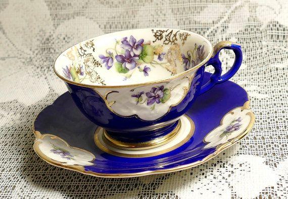 Vintage Cobalt Blue Royal Heidelberg Cup and by TidyTipsDesign