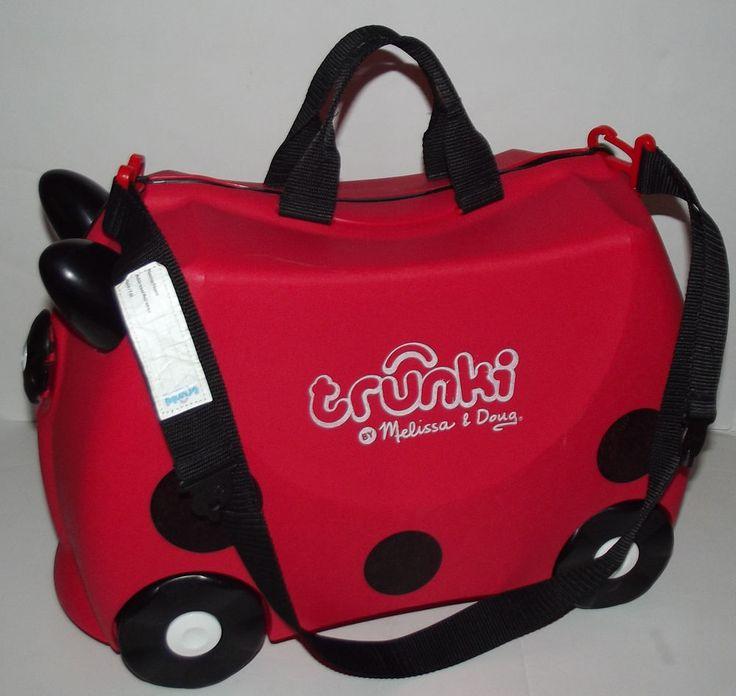 Trunki Ride-on Pull Along Childrens Suitcase RUBY Red LADYBUG by Melissa & Doug #Trunki