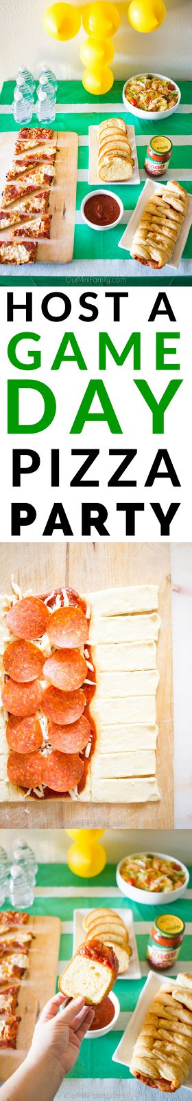 See these tutorials and recipe ideas to host your very own game day pizza party! #ad
