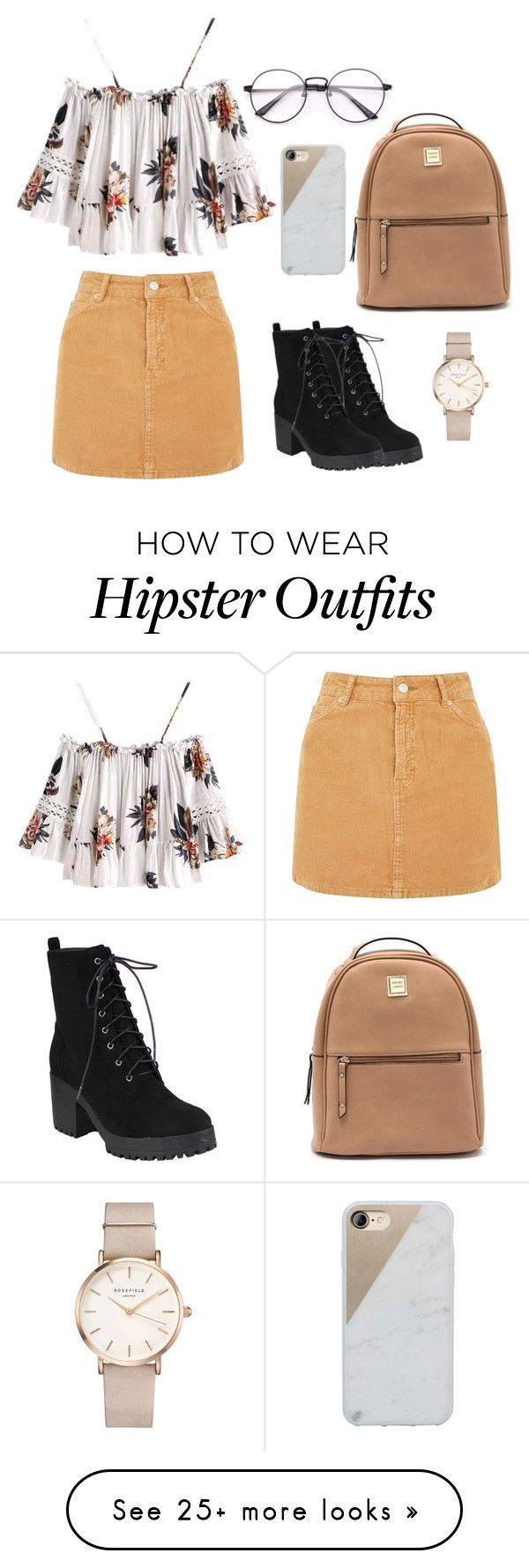 """""""Look #1"""" by mhaireegb on Polyvore featuring Topshop, Native Union and ROSEFIELD"""