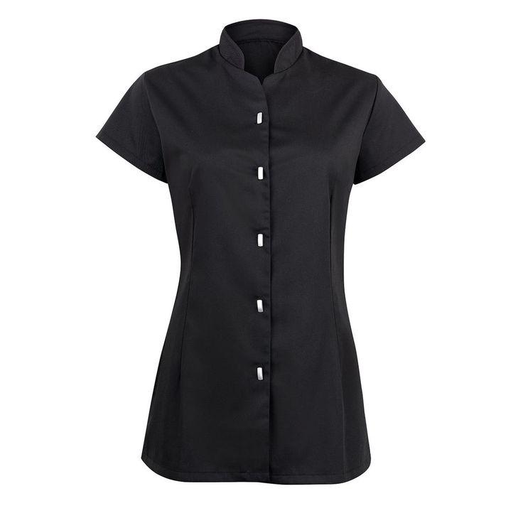 Ladies Women Button Front Tunic Salon Hair Dresser Spa Uniform
