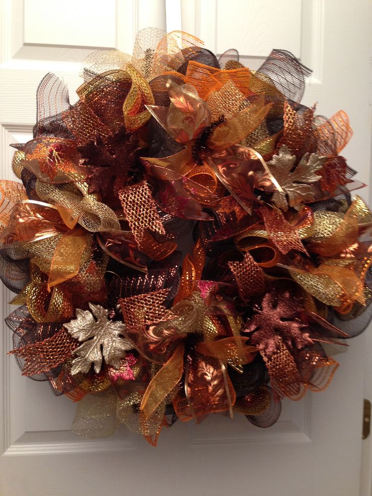 25  best ideas about fall deco mesh on pinterest