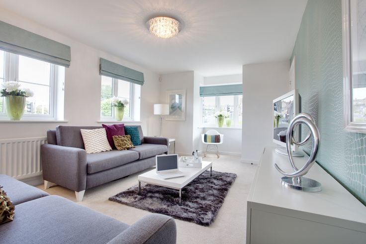 The living room in The Sheringham at Elberry Gardens in Paignton | Bovis Homes