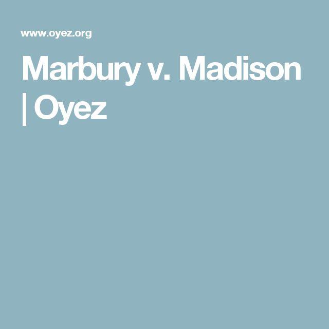 Marbury v. Madison | Oyez