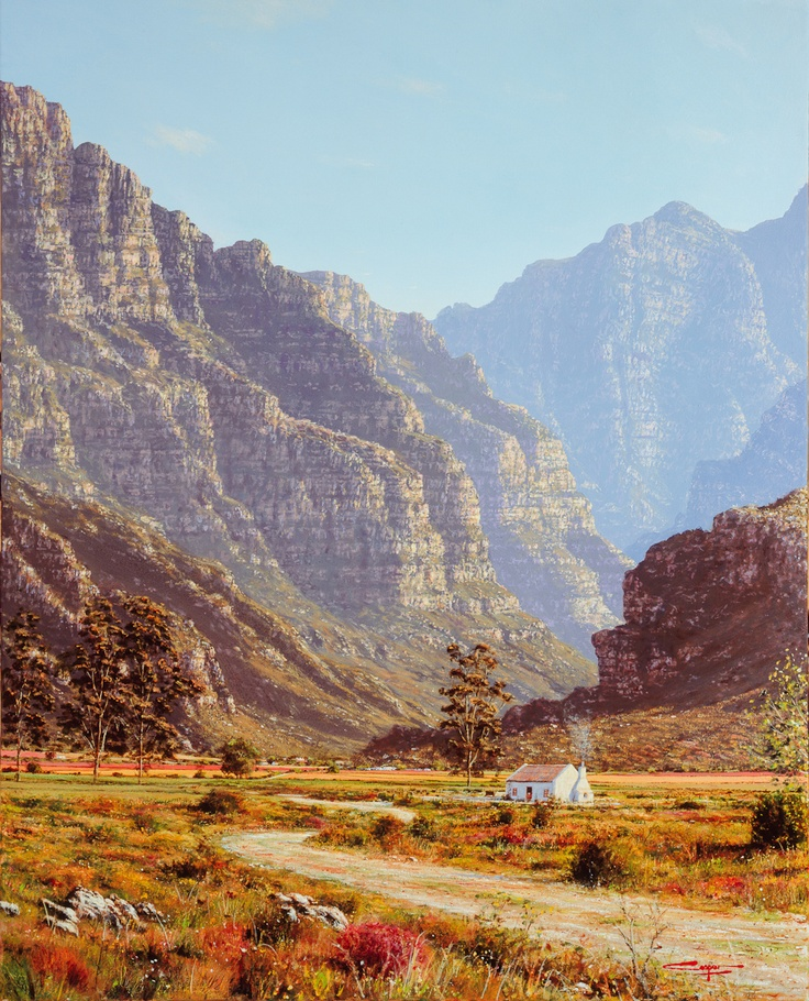 Painting of Du Toits Kloof Worcester.