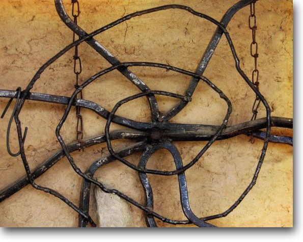Spider's Web, recycled metal sculpture by Maurice Berry, Mudgee NSW.