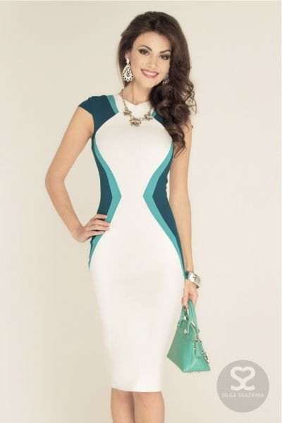 Платье футляр с коротким рукавом в интернет магазине дизайнера. | Skazkina
