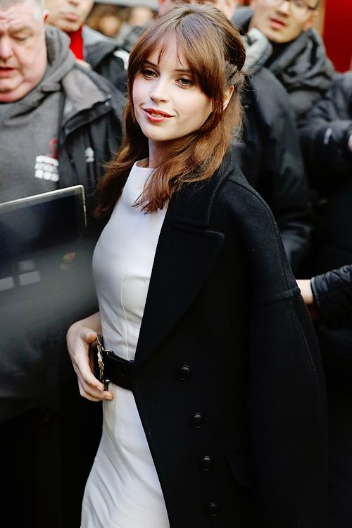 Felicity Jones Source — Felicity Jones in London on December 15th.