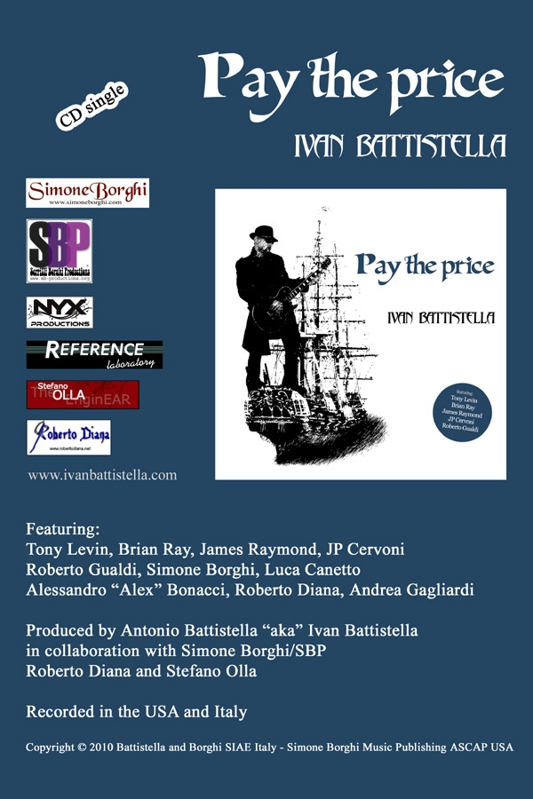 """""""Pay The Price"""" by Ivan Battistella - Credits: Co-Producer, Recording, Mixing, Mastering - Release Year: 2010"""