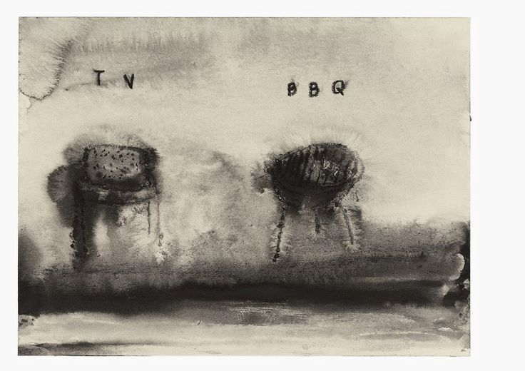 david lynch presents drawings   paintings for naming exhibit at mima - designboom | architecture