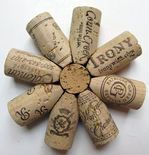 I've seen cork coasters before, but not like these.  LOVE!