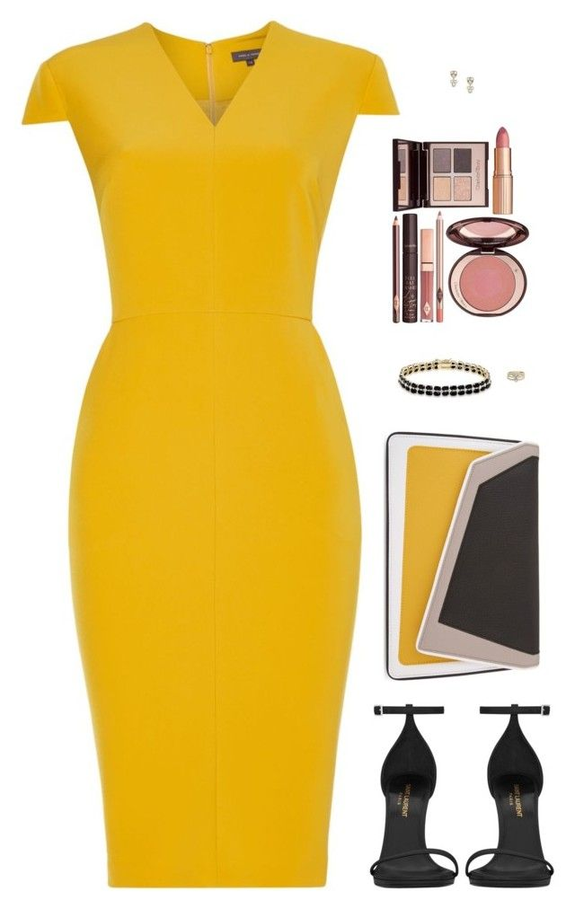 """""""Sin título #4232"""" by mdmsb on Polyvore featuring moda, Pied a Terre, Yves Saint Laurent, âme moi, Dolce Giavonna, FOSSIL y Charlotte Tilbury"""