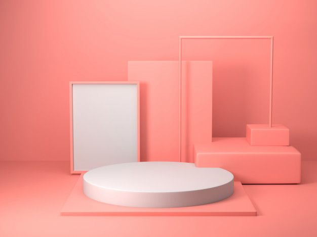 3d Render Of Abstract Pink Color Geometric Shape Modern Minimalist Mockup For Podium Display Or Showcase Modern Minimalist Display Minimalist Photos