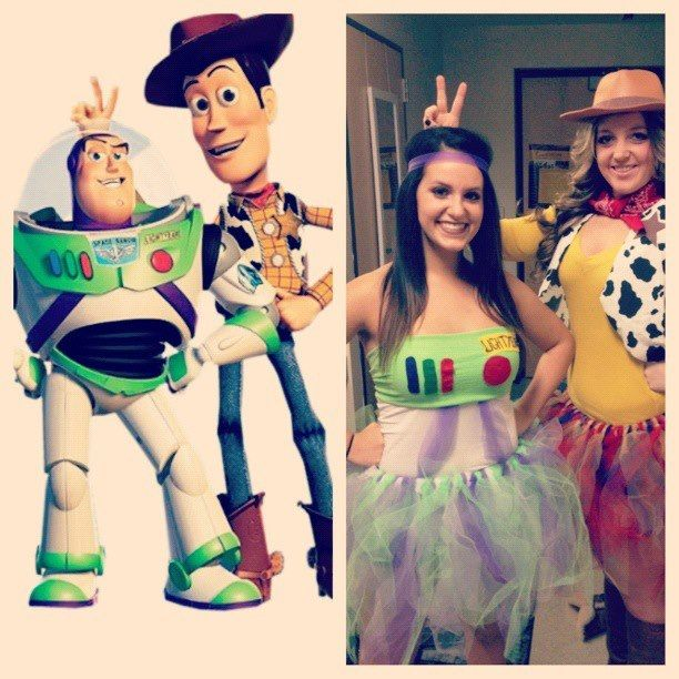 Coolest Women\u0027s Buzz Lightyear and Woody Couple Costume Buzz - different halloween costume ideas