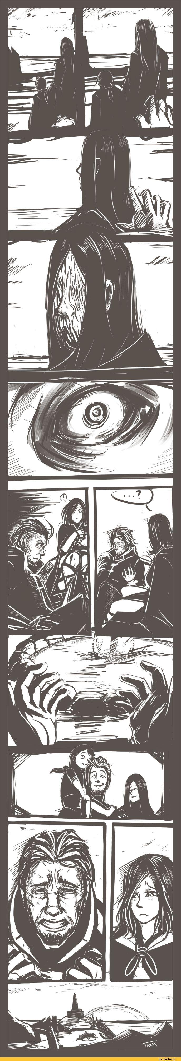 Dark Souls, fandoms, Dark Souls 2, DS characters, DS art, DS comics, Emerald Herald, Chosen Undead, Funny comics, comics with humor and their translations