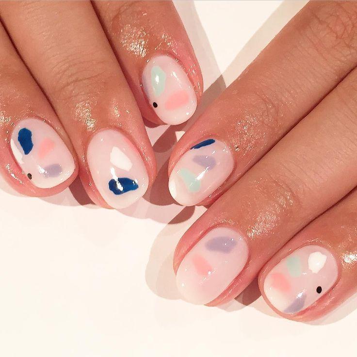 Pastel nail art.