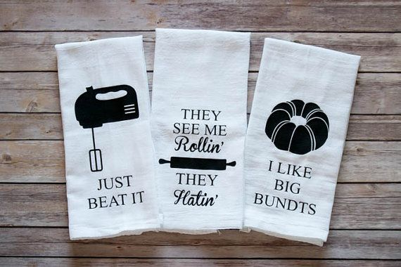 These tea towels are so funny! Such a great gift idea!